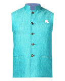 Park Avenue Blue Slim Fit Waist Coat