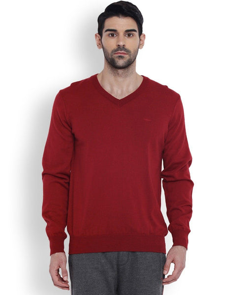 Park Avenue Red Solid Sweater