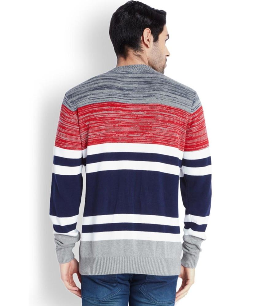 Park Avenue  Blue Striped Sweater