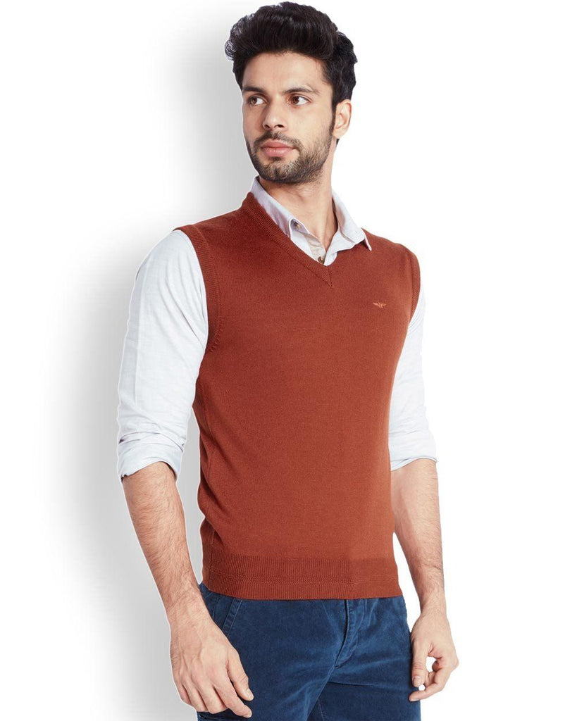 Park Avenue  Orange Solid Sweater