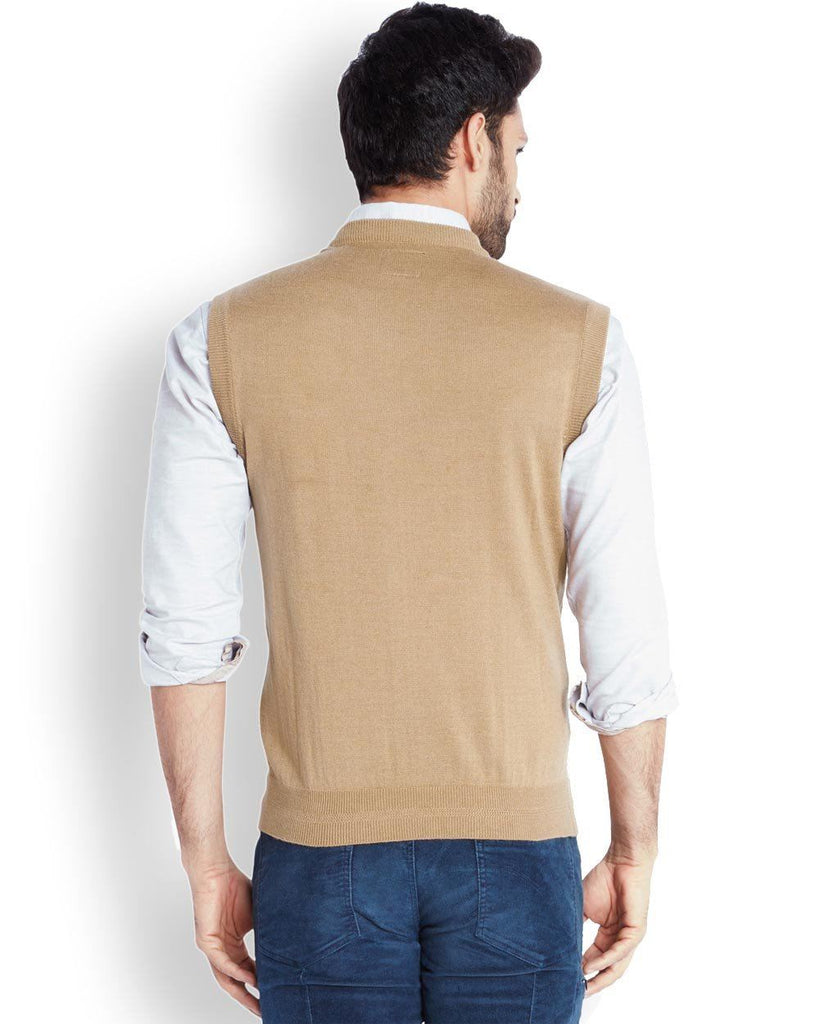 Park Avenue  Beige Solid Sweater