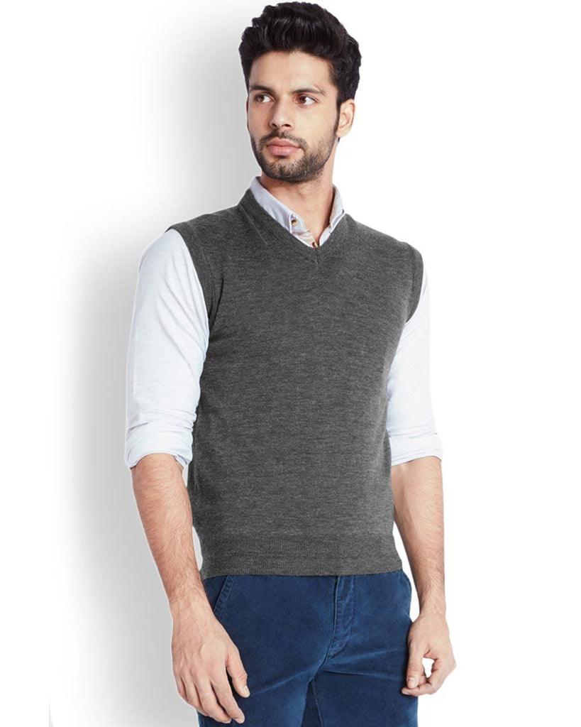 Park Avenue  Grey Solid Sweater
