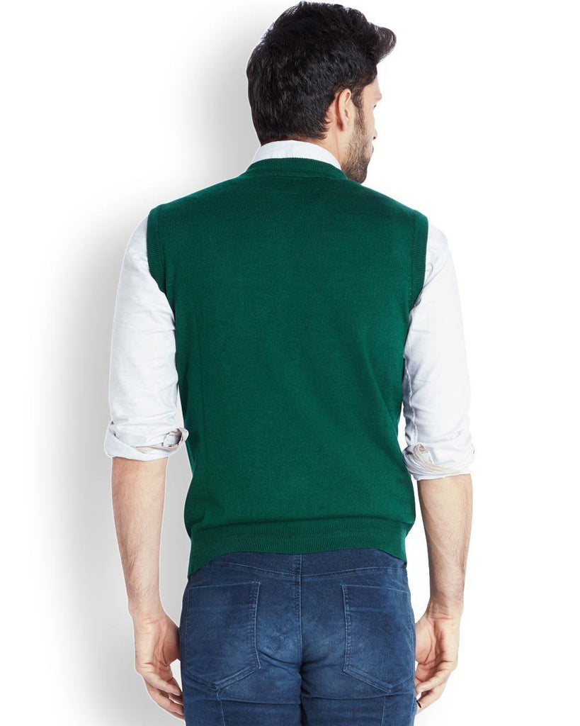 Park Avenue  Green Solid Sweater