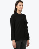 Park Avenue Woman Black Regular Fit Tops