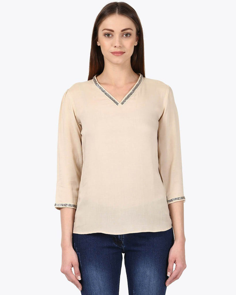 Park Avenue Woman Fawn Regular Fit Top