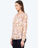 Park Avenue Woman Medium Orange Regular Fit Top
