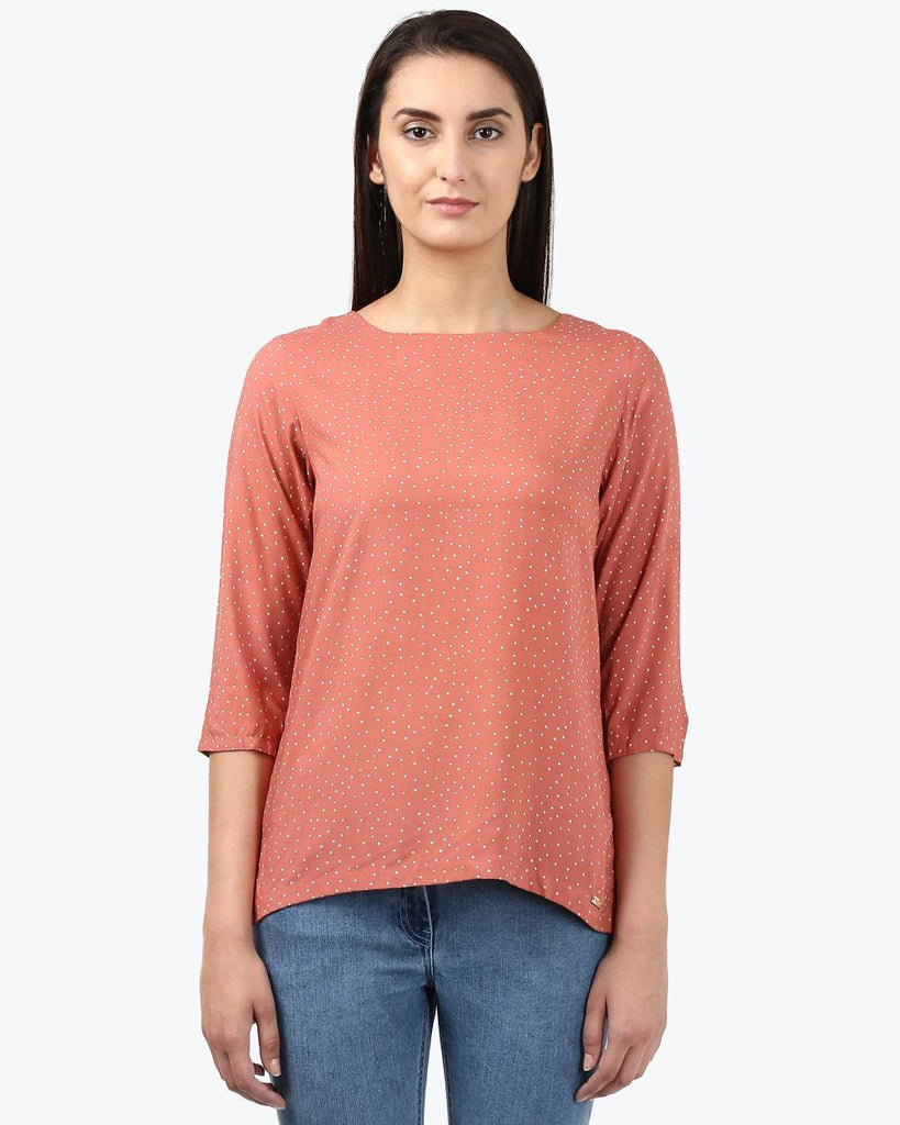 Park Avenue Woman Dark Orange Regular Fit Top