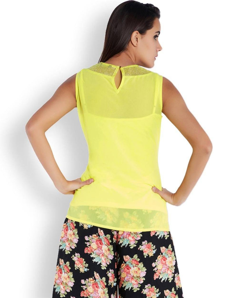 Park Avenue Woman Yellow Regular Fit Top