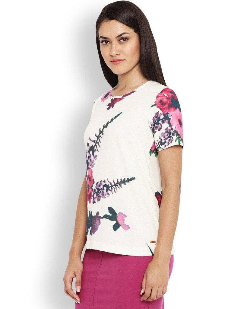 Park Avenue White Regular Fit Woman Top
