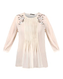 Park Avenue Beige Regular Fit Top