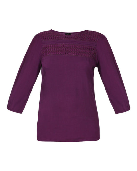 Park Avenue Woman Violet Regular Fit Top