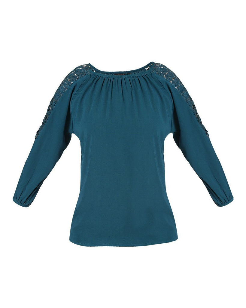 Park Avenue Woman Dark Green Regular Fit Top