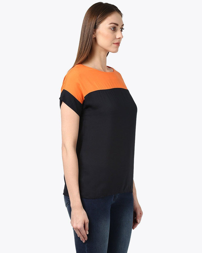 Park Avenue Woman Black Regular Fit Top