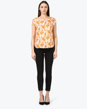 Park Avenue Woman Medium Fawn Regular Fit Top