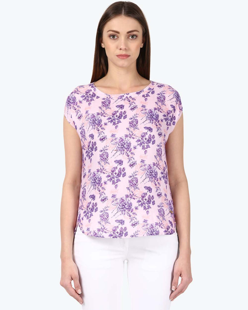 Park Avenue Woman Dark Violet Regular Fit Top