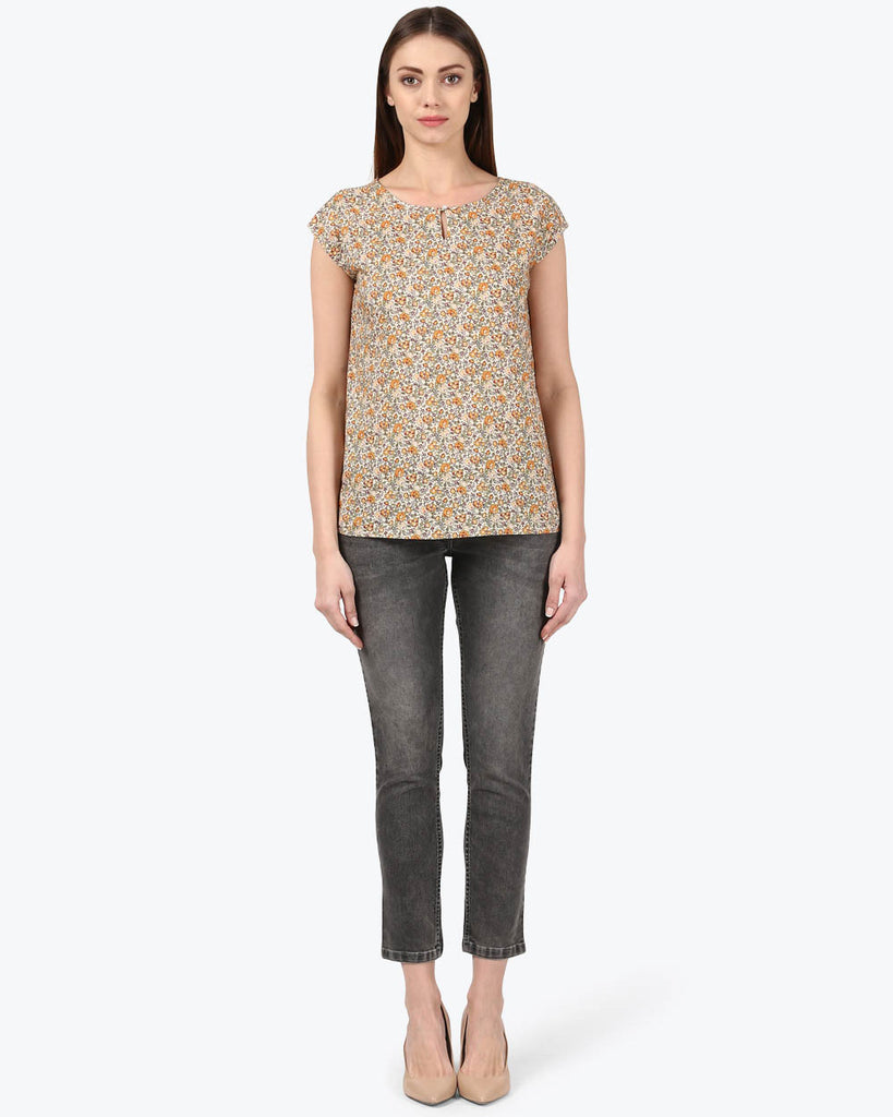 Park Avenue Woman Yellow Regular Fit Tops