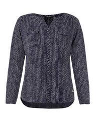 Park Avenue Woman Dark Blue Regular Fit Tops