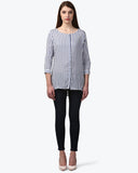 Park Avenue Woman Medium Blue Regular Fit Top
