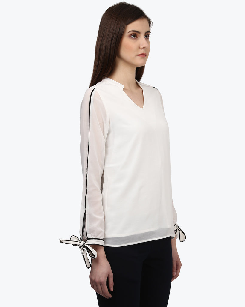 Park Avenue Woman White Regular Fit Top