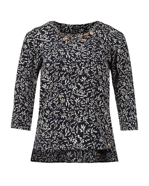 Park Avenue Woman Dark Blue Regular Fit Top