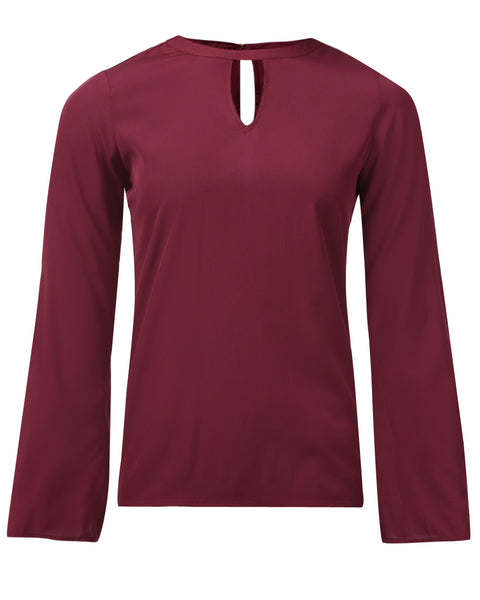 Park Avenue Woman Maroon Regular Fit Top