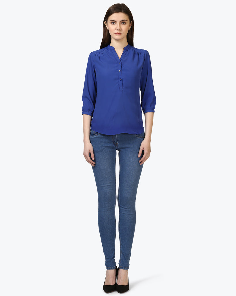 Park Avenue Blue Regular Fit Top