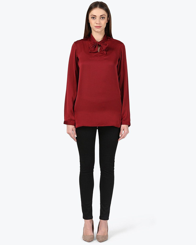 Park Avenue Woman Dark Maroon Regular Fit Top