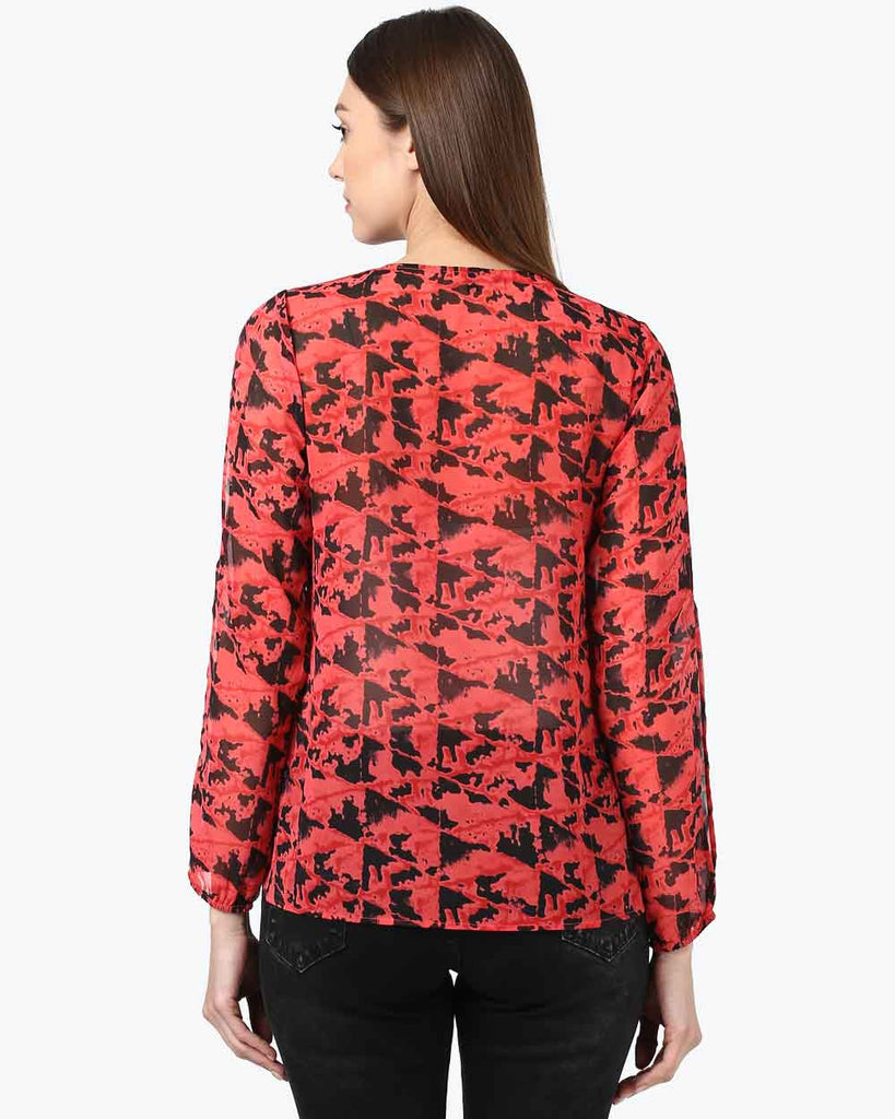 Park Avenue Woman Dark Red Regular Fit Top