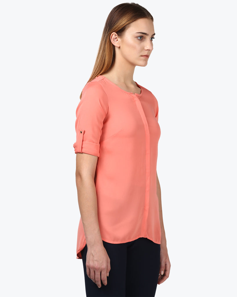 Park Avenue Woman Peach Regular Fit Top
