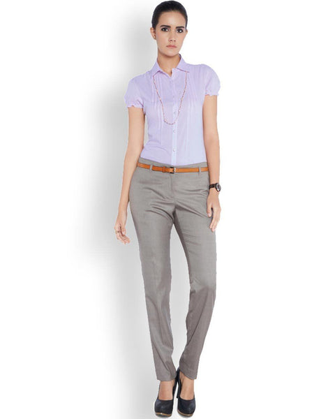 Park Avenue Woman Purple Regular Fit Top