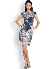 Park Avenue Dark Grey Regular Fit Dress