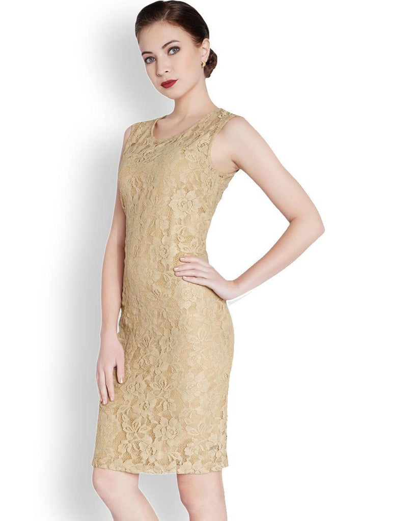 Park Avenue Woman Beige Regular Fit Dress
