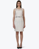 Park Avenue Woman White Regular Fit Dress