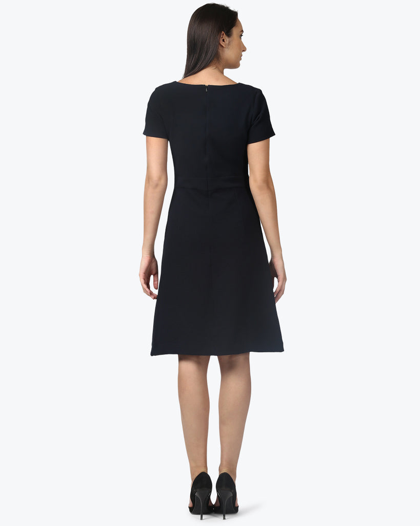 Park Avenue Woman Dark Blue Regular Fit Dress