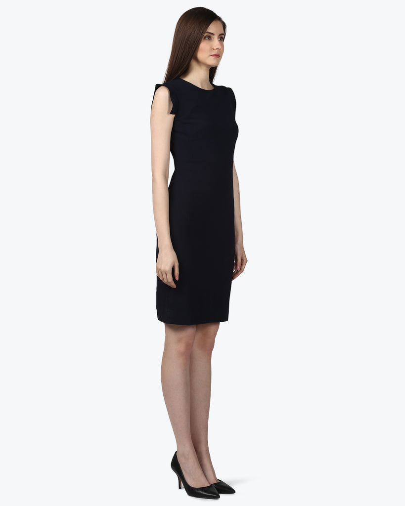 Park Avenue Woman Black Regular Fit Dress
