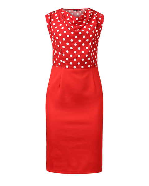 Park Avenue Woman Red Regular Fit Dress