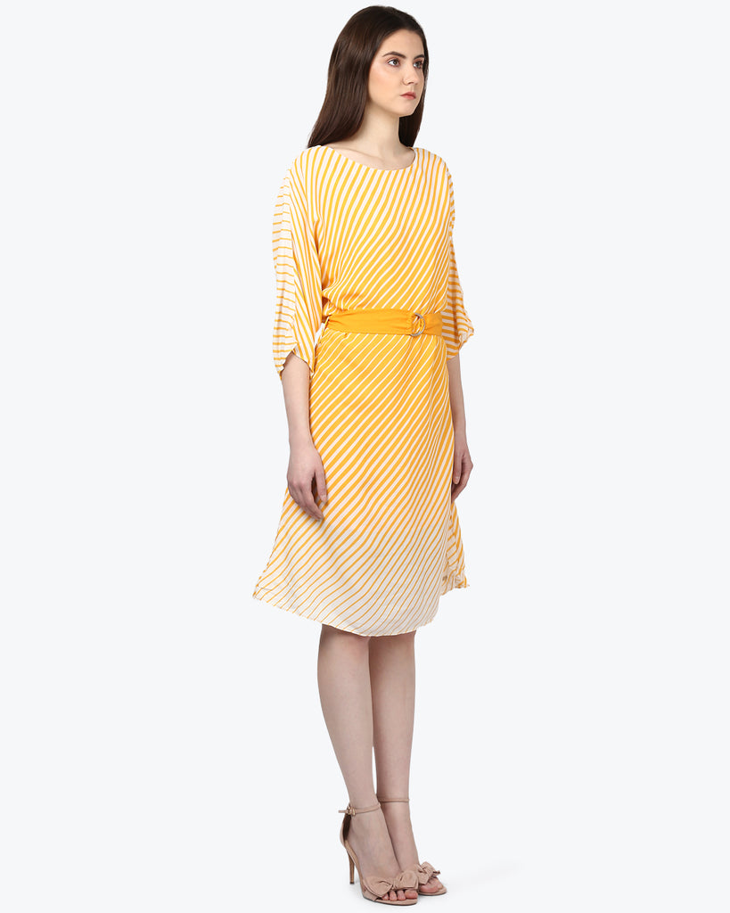 Park Avenue Woman Yellow Regular Fit Dress