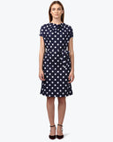 Park Avenue Woman Navy Blue Regular Fit Dress