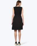 Park Avenue Black Regular Fit Dress