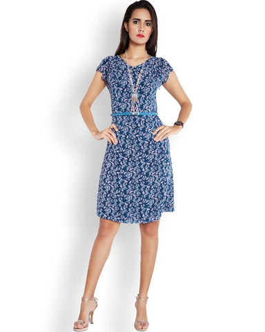Park Avenue Dark Blue Regular Fit Dress