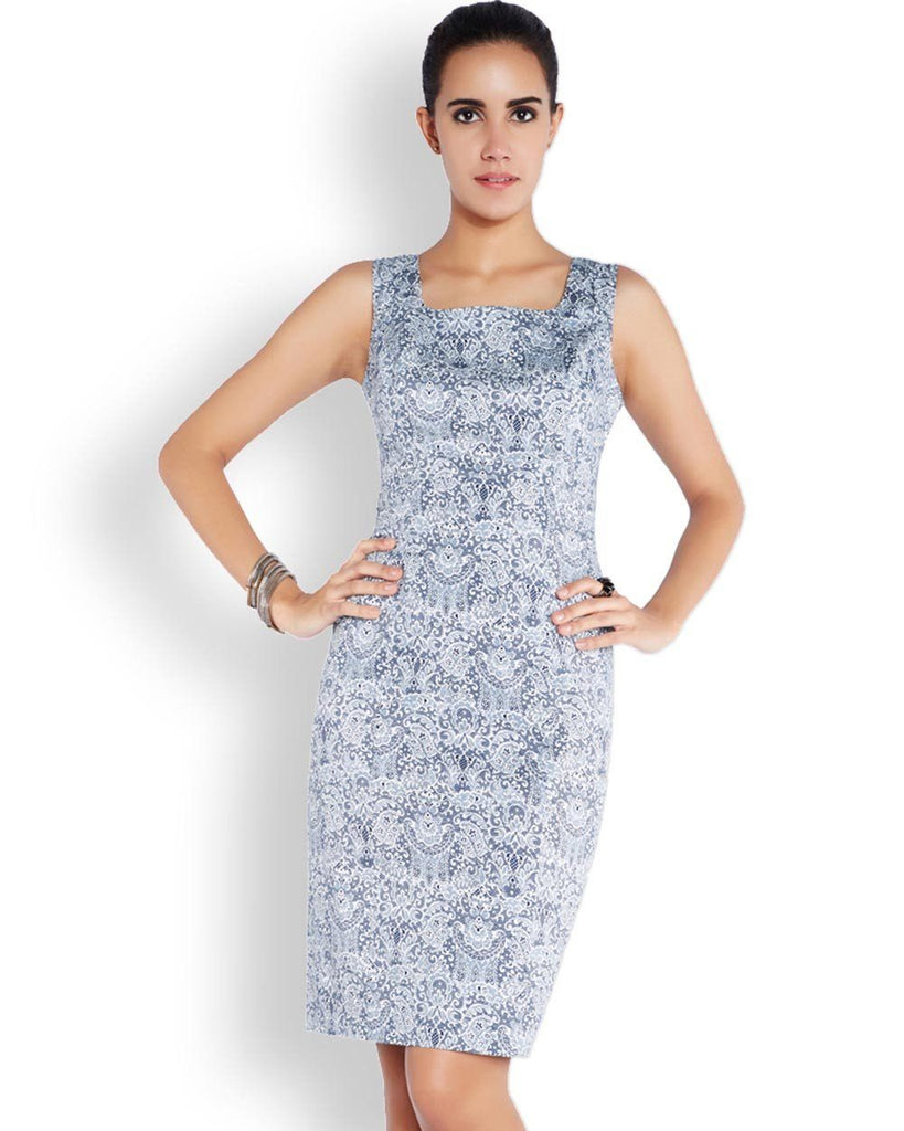 Park Avenue Woman Blue Regular Fit Dress