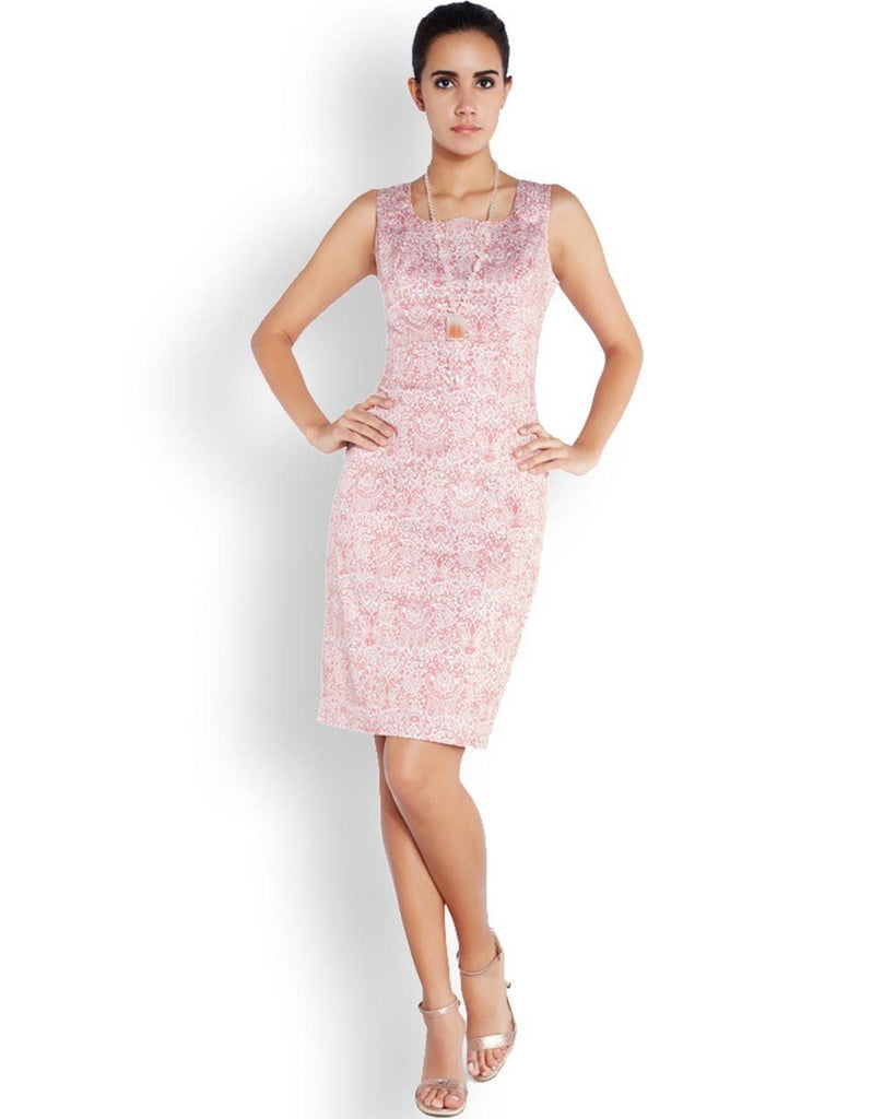 Park Avenue Woman Pink Regular Fit Dress