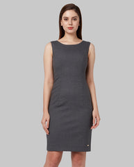 Park Avenue Woman Dark Grey Regular Fit Dress