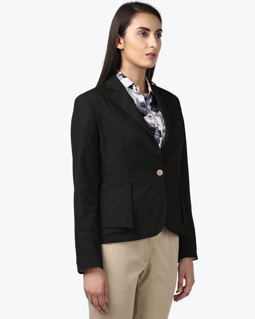 Park Avenue Woman Black Regular Fit Jacket