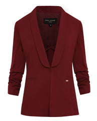 Park Avenue Woman Dark Maroon Regular Fit Blazer