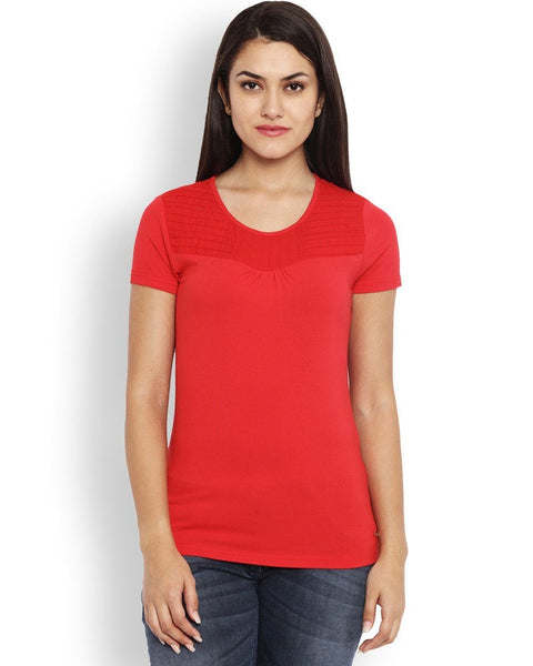 Park Avenue Red Regular Fit T-Shirt
