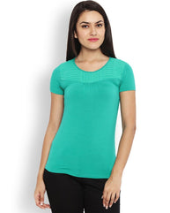Park Avenue Green Regular Fit Woman T-Shirt
