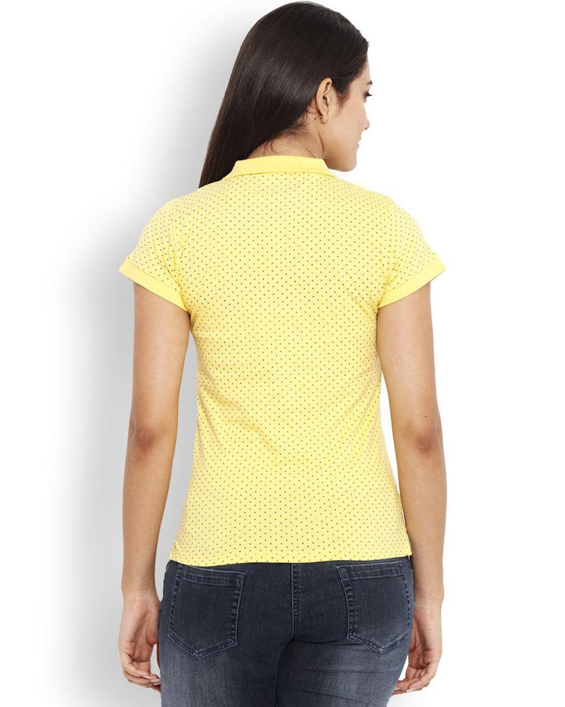 Park Avenue Yellow Regular Fit Woman T-Shirt