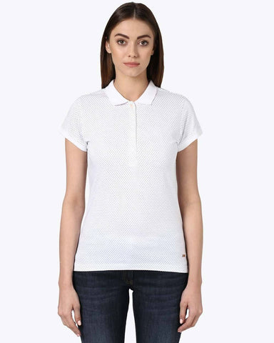 Park Avenue Woman White Regular Fit T-Shirt
