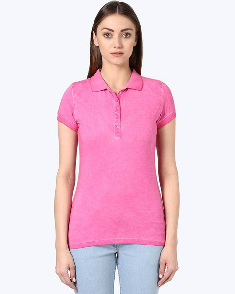 Park Avenue Woman Pink Regular Fit T-Shirt